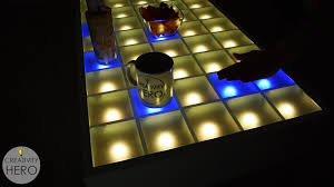 this interactive led coffee table turned out perfect i like every part of it including the design the color change and the brightness adjustment