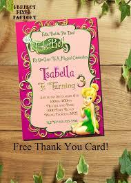 Tinkerbell Invitations Printable Tinkerbell Invitation Tinkerbell Birthday Invitation