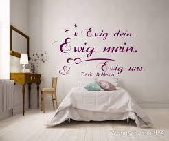 Wandtattoo Schlafzimmer Spruch Mit Zwei Namen Ewig Dein Ewig
