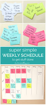 My Weekly Schedule Super Simple Weekly Schedule To Get Stuff Done Start A Mom Blog