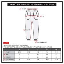Size Chart For Mens Joggers Brooklyn Surf Mens Cozy Knit Fleece Jogger Pants Sweatpants