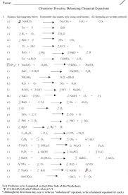 practice worksheet answers balancing