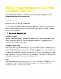 Support Services Proposal Template Layout A Nice Example Of What We