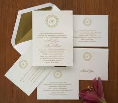 Traditional Wedding Invitation Single Initial Wedding Invitation Set Thermography Wedding Invite