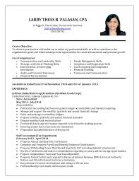 Ideas Collection Sample Resume Fresh Graduate Accounting Student On Cover