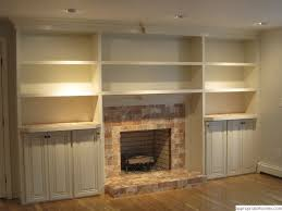 awesome building built in shelves around fireplace