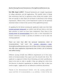 Nursing Personal Statement Examples Nursing Personal Statement Samples Tirevi Fontanacountryinn Com