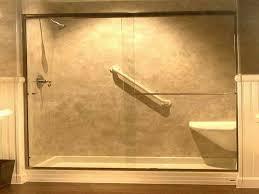 image of elegant fiberglass shower pan