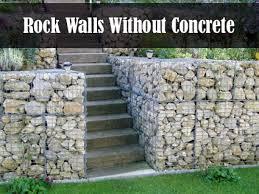 build rock walls with no concrete
