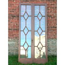 oak interior doors for stained glass antique diamond themed door panels