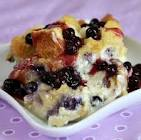 baked stuffed blueberry french toast for 2