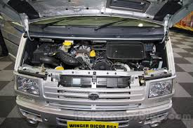 Tata Winger DICOR BS4 engine bay at the Bus and Special Vehicle Show ...