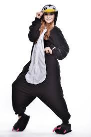 Designer Onesie Womens Adult Penguin Onesie Animal Footed Pajamas Plus Size Polar