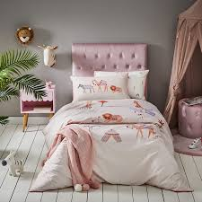 adairs kids moroccan dreaming pale pink quilt cover set
