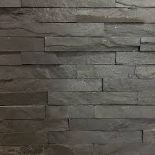 10x40cm slate black split face tile