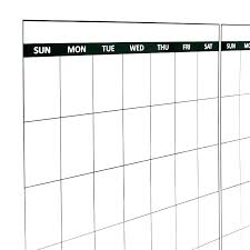 Customized Monthly Magnetic Refrigerator Calendar Dry Erase