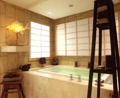 Bathroom:Extraordinary Asian Bathroom Design With Beige Tile Wall Idea  Fascinating Asian Bathroom With Beige