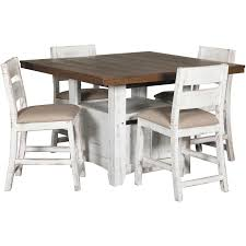 Pueblo Counter Height Dining Table With Chairs By Ifd Artisan Home