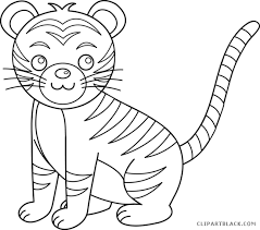 baby tiger clipart black and white. Interesting Tiger Banner Stock Baby Clipartblack Com Animal Free Images Transparent Download Tiger  Clipart Black And White And Clipart Black White P