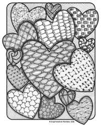 Small Picture 159 best Adult coloring hearts images on Pinterest Coloring