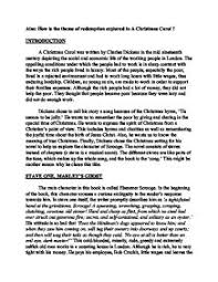 aim how is the theme of redemption explored in a christmas carol  page 1 zoom in