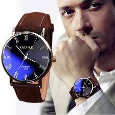 <b>2018 New Fashion Luxury</b> Men watch Faux Leather Mens Casual ...