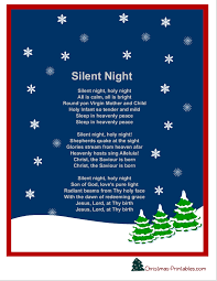 silent-night-christmas-carol-lyrics-printable | Project Inspired