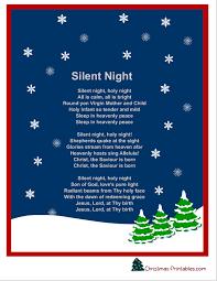 silent-night-christmas-carol-lyrics-printable | Project Inspired