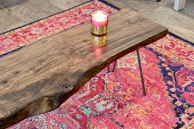 Indian Style Coffee Table Pink Fuchsia Ikat Pattern Rug Woodwaves