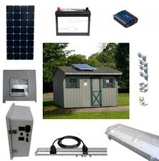 15W OffGrid Solar Lighting System With 4 LED Lights Amazoncouk Solar Power Lighting Kits