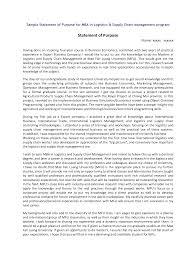 A Winning Statement of Purpose Business School Sample
