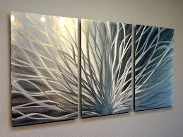 three panel metal wall art