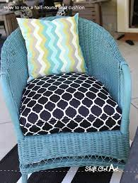 how to sew a half round seat cushion
