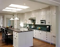 Galley Kitchen With Center Island