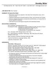 Gallery Of Resume Sample For An Esl Teacher Susan Ireland Resumes