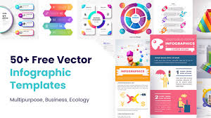 All Free Download Vector Design 50 Free Vector Infographic Templates Multipurpose