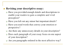 how to write a descriptive essay 9