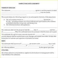 Sublease Agreement Samples Sub Lease Template Commercial Sublease Agreement Template Word