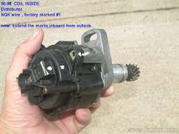 how to set ignition timing later this distributor rotor rim mark will be used to get the rotor pointer aligned correctly