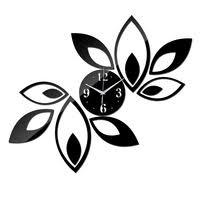 new 3d wall clock quartz cartoon fox modern design 28cm mute movement watch for home decoration dropshipping