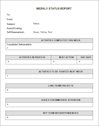 project weekly report format weekly status report template employee weekly status report