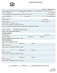 Rental Credit Application Rental Application Form Credit Residential Template