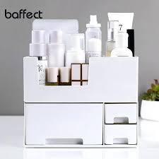 multi grid large capacity makeup organizer office box cosmetic plastic storage desk bathroom case from e makeup organizer box