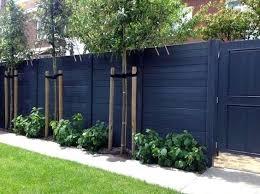backyard wooden fence ideas black stained exterior ideas for wood fence outdoor wood fence decorating ideas