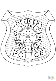 Small Picture Police Officer Badge coloring page Free Printable Coloring Pages
