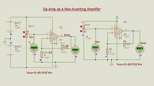 op amp as a non inverting amplifier