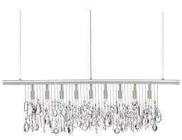 jackie s finished linear crystal chandelier diy diycrystalchandeliertableday