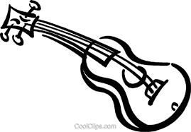 Acoustic Guitar Royalty Free Vector Clip Art Illustration Vc045411
