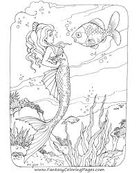 Free Printable Mermaid Coloring Pages Printable Coloring Page For Kids