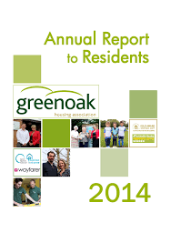 greenoakha annual reports residents annual report 2014front page 1